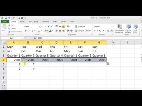 Hindi Microsoft Excel 2007/2010/2013 pt 2