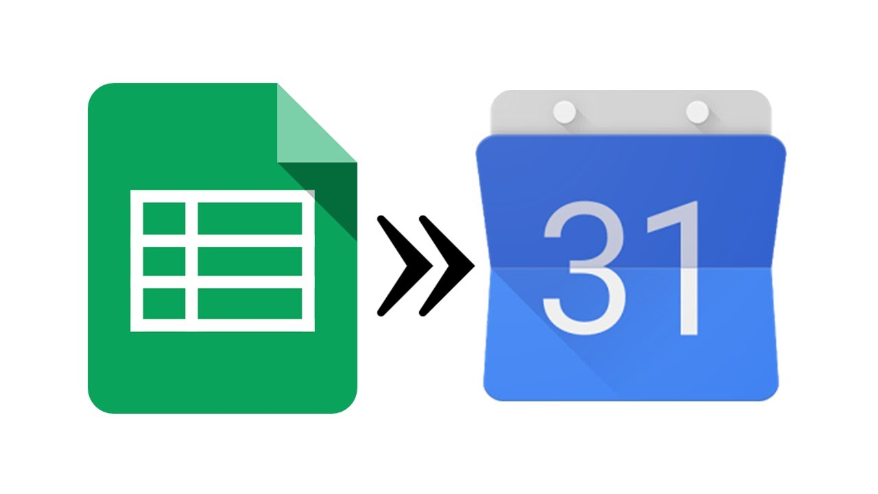 using google sheets to update calendars youtube