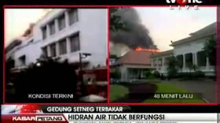 tvOneNews_ Api di Gedung Setneg Belum Berhasil Dipadamkan - Kabar Petang