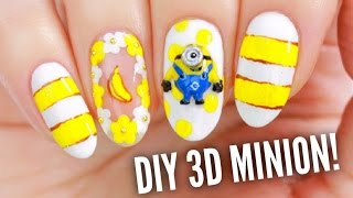 DIY Your Own 3D Acrylic Minion Nail Charm!
