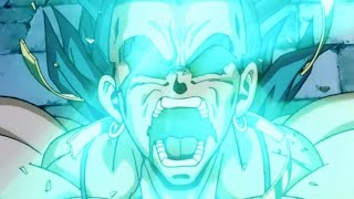 Broly's legendary super saiyan transformation