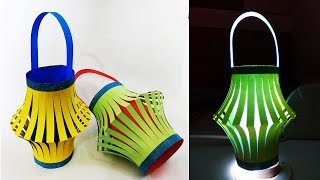 How to Make Paper Lantern for Diwali and Christmas Decoration | Diwali Decoration Ideas