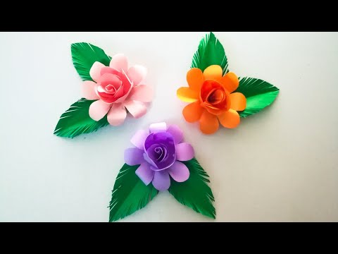 Beautiful Paper Flower making ideas / Diy Paper Flowers / How to make paper flower easy way / Diy