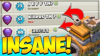TH 7 LEGEND WORLD RECORD CHALLENGED BY 3 PLAYERS in Clash of Clans | Best TH 7 Trophy Push Army