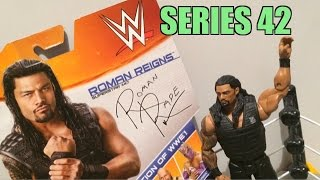 WWE ACTION INSIDER: Roman Reigns Superstars Series 42 Mattel Basic Wrestling Figure Toy