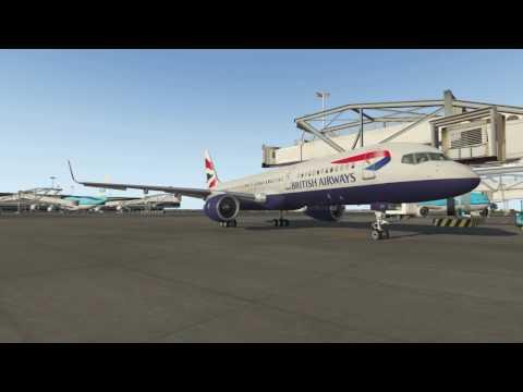 (X-Plane 11) Amsterdam to Heathrow - Boeing 757-200!