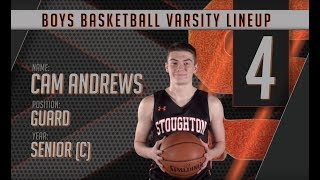 Stoughton High Boys Basketball Player Intros (2017-2018 Season)