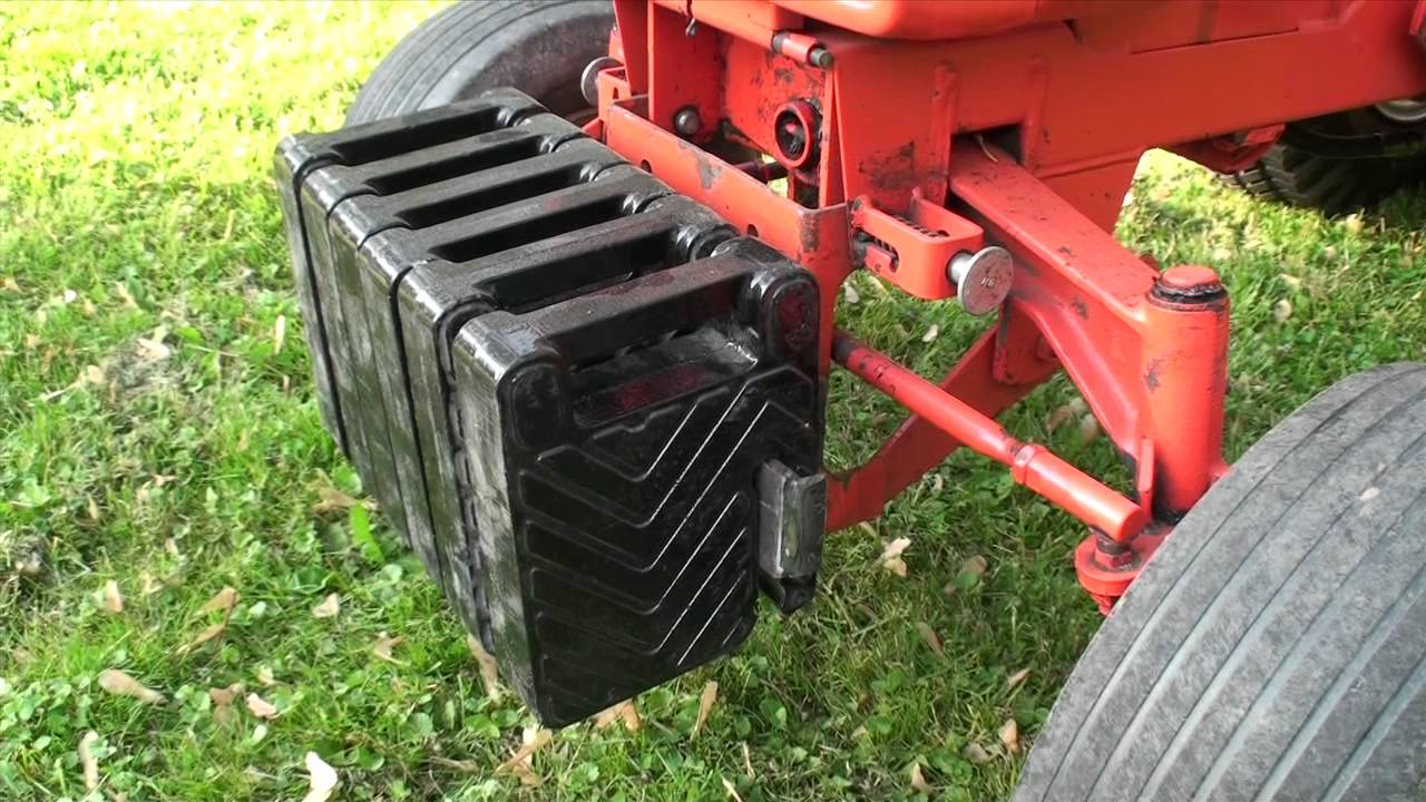 Tractor Front End Weights : Ingersoll weights youtube
