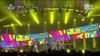 141009 - Sugar Free - T-ARA @ M!Countdown Goodbye Stage
