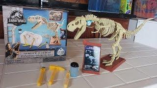 ENCONTREI OSSOS DO DINOSSAURO T-REX! (Kit de Escavação Jurassic World)