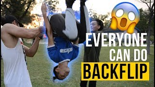 EVERYONE CAN DO BACKFLIP NOW! (MALAY)
