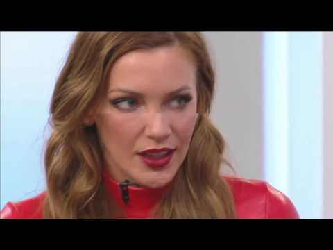 actress katie cassidy in the Style Code Live Rewind