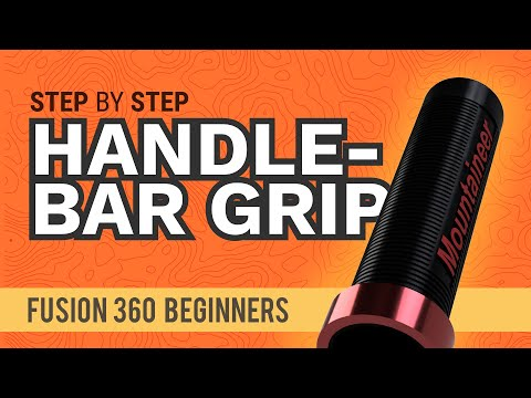 3D Model a Handlebar Grip with Embossed Letters - Learn Autodesk Fusion 360 in 30 Days: Day #7