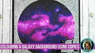 Colouring a Galaxy Background using Copic Markers