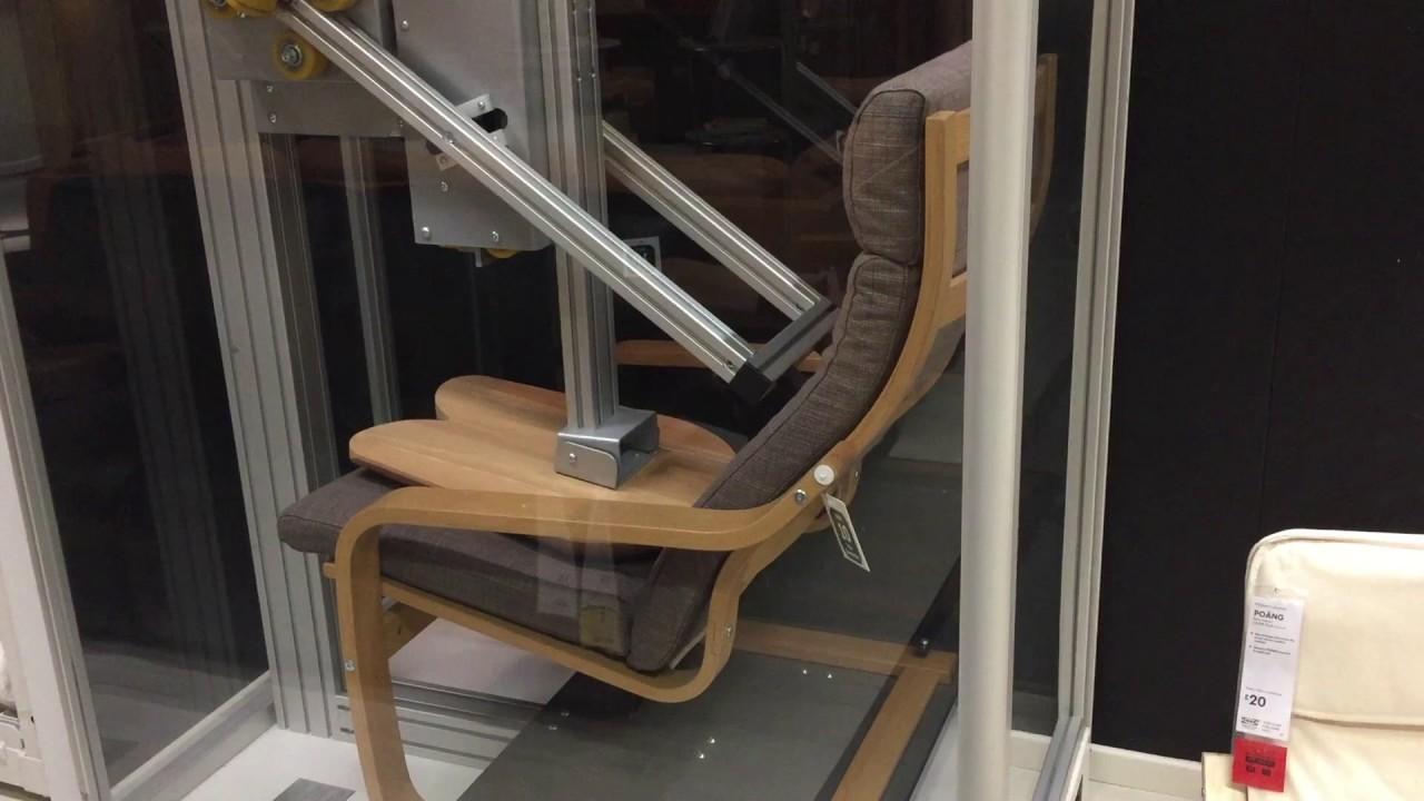 poang chairs ergonomic mesh desk chair 28 durability testing of the ikea youtube