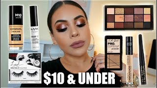 FULL FACE NOTHING OVER $10: AFFORDABLE MAKEUP TUTORIAL | JuicyJas