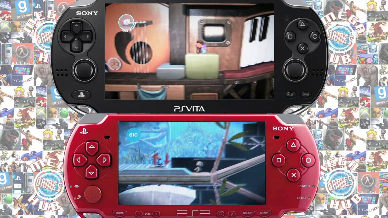 Playstation Vita Vs Psp : Psp vs ps vita wipeout virtua tennis little big planet