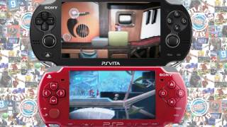 PSP VS PS VITA Wipeout, Virtua Tennis, Little Big Planet, Ridge Racer, Everybody's Golf