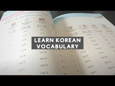 how to learn korean vocabulary words