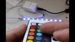 подключение контроллера к светодиодной ленте. LED контроллер.(У відео розглянуто основні можливості простого контроллера світлодіодної стрічки з пультом дистанційного..., 2013-07-07T15:43:38.000Z)