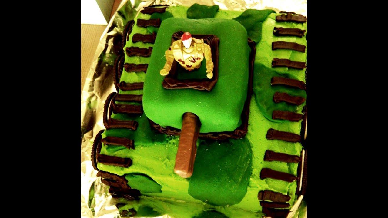 How to Make an Army Tank Birthday Cake YouTube