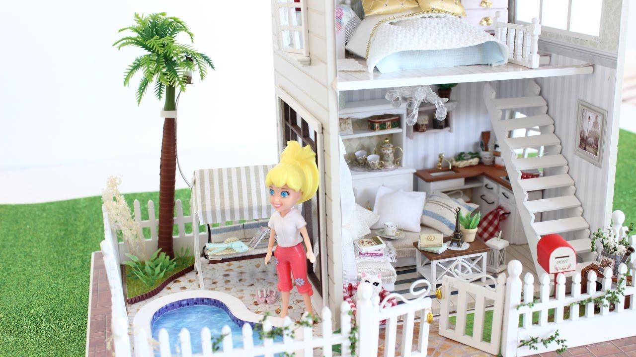 Diy dollhouse paris apartment miniature dolls part2