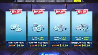 How to get 50% off V Bucks (Limited Time) in Fortnite...