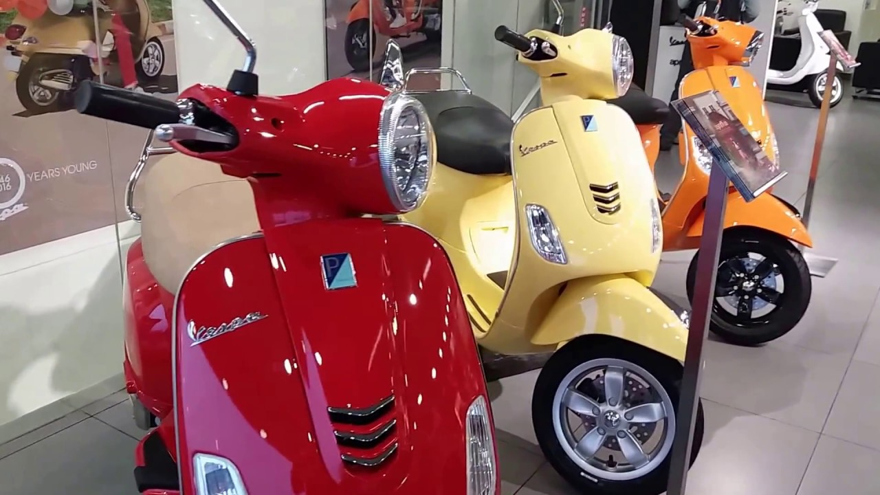 Vespa All New Colors and Models | Detail Walkaround | India Showroom | 1080p