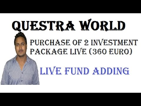 Live Purchase of 360 Euro Investment Package in Questra World (Stable Online Earning)