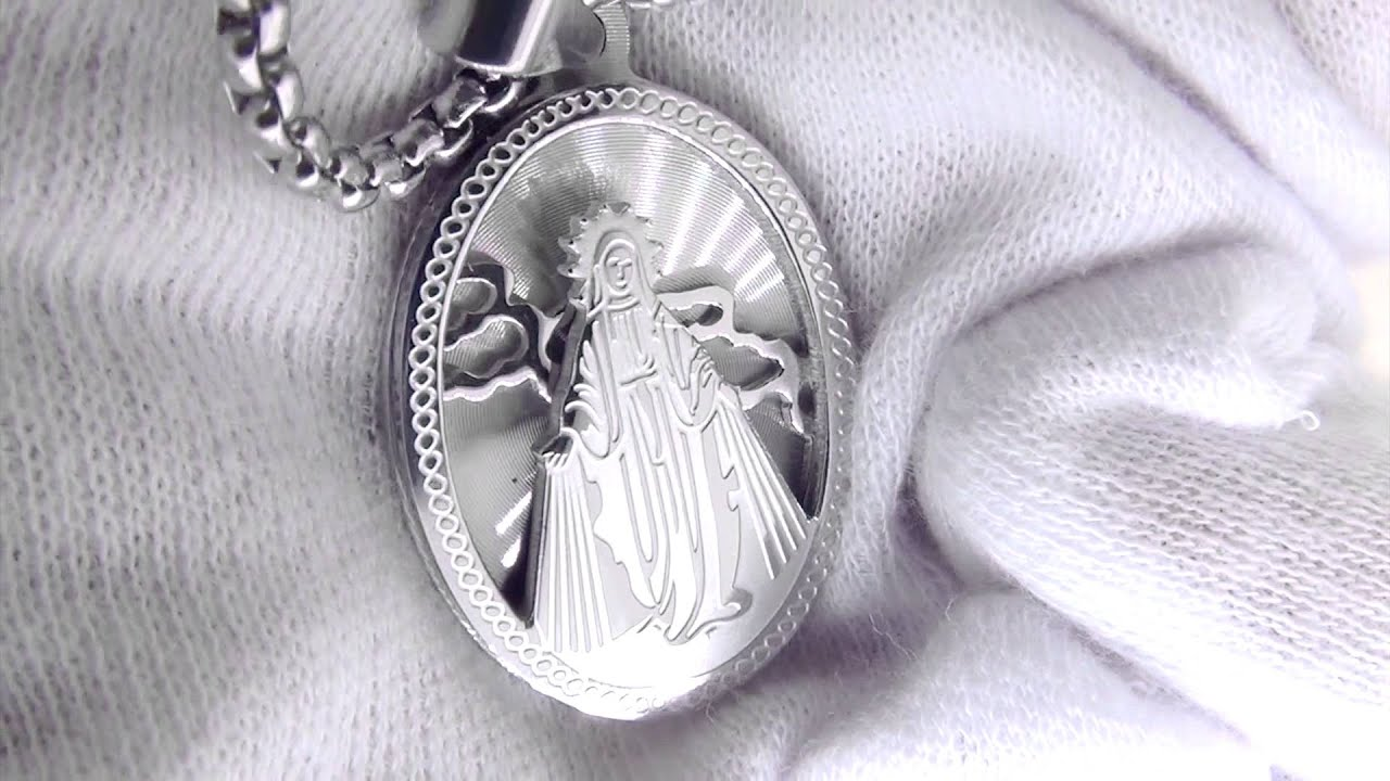 Mary christian religious detailed pendant stainless steel jewelry mary christian religious detailed pendant stainless steel jewelry aloadofball Images