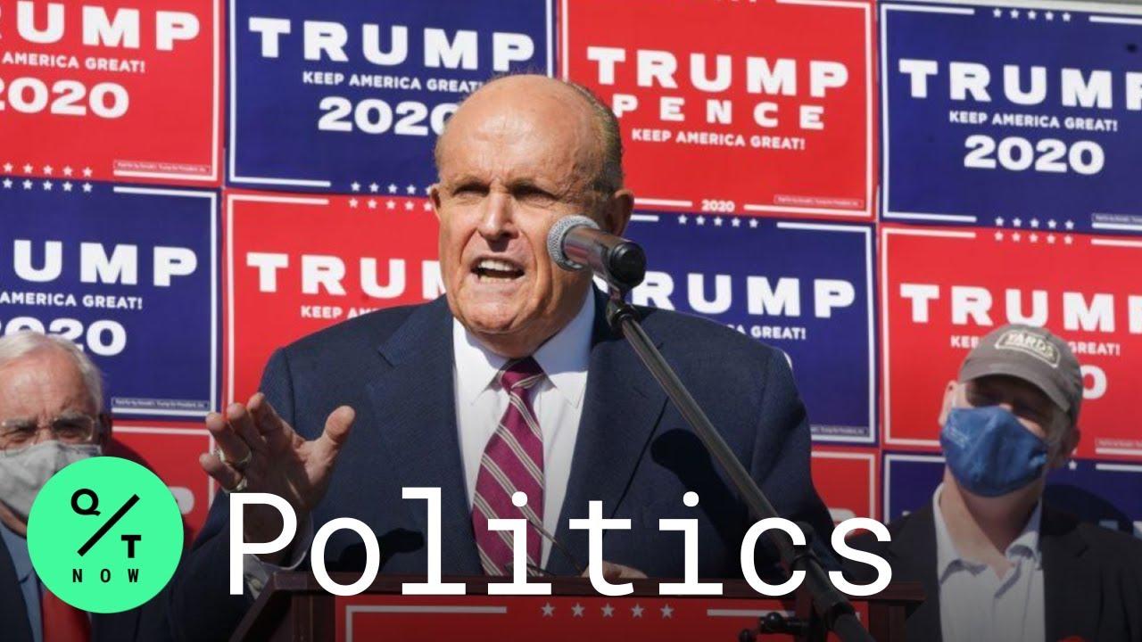 Watch Rudy Giuliani's reaction when he was told Joe Biden won the ...