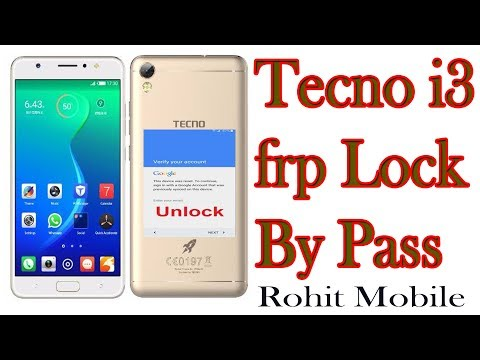 Tecno i3 frp unlock new solution By Pass (2018) || Rohit Mobile