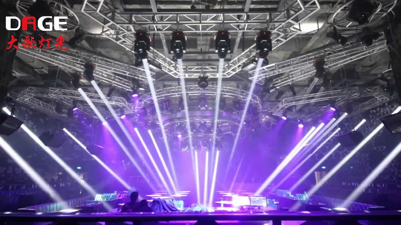 night club lighting show dage lights 7r beam moving head