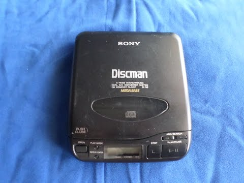 Vintage 1991 Sony Discman D-33