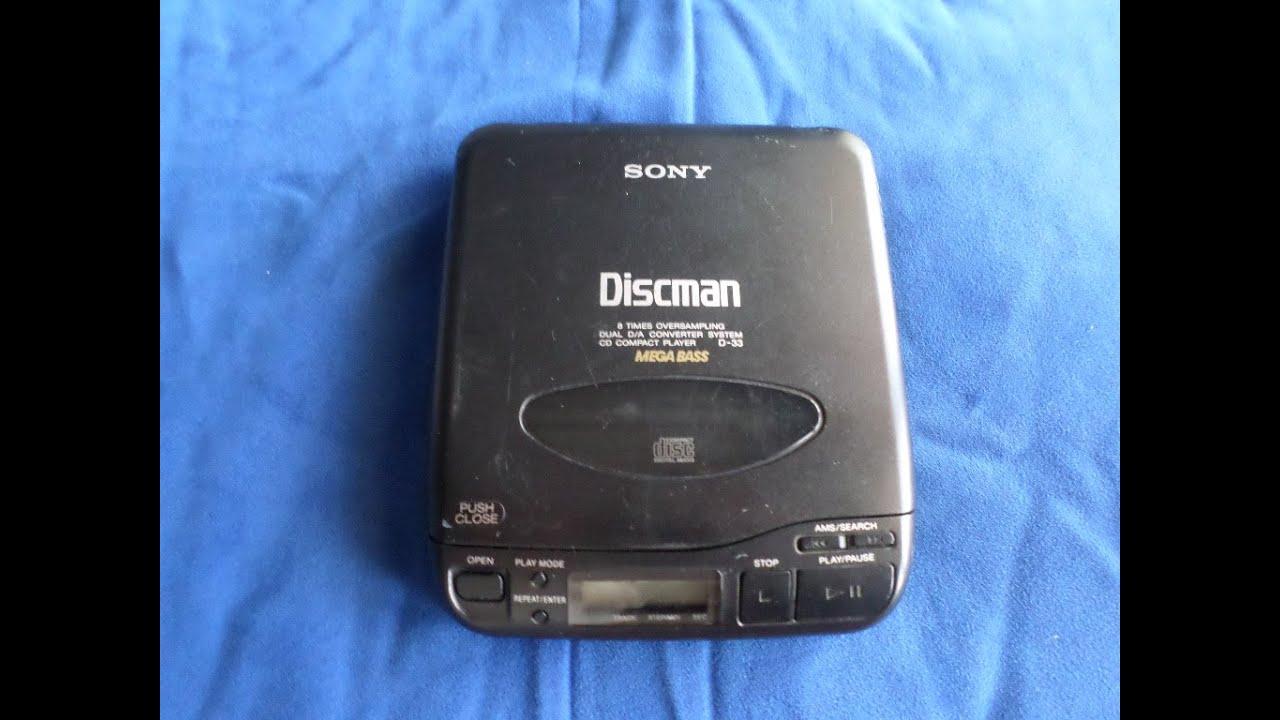 Vintage 1991 Sony Discman D-33 - YouTube  Vintage 1991 So...