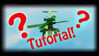 ROBLOX | Avião louco | Mini helicóptero tutorial