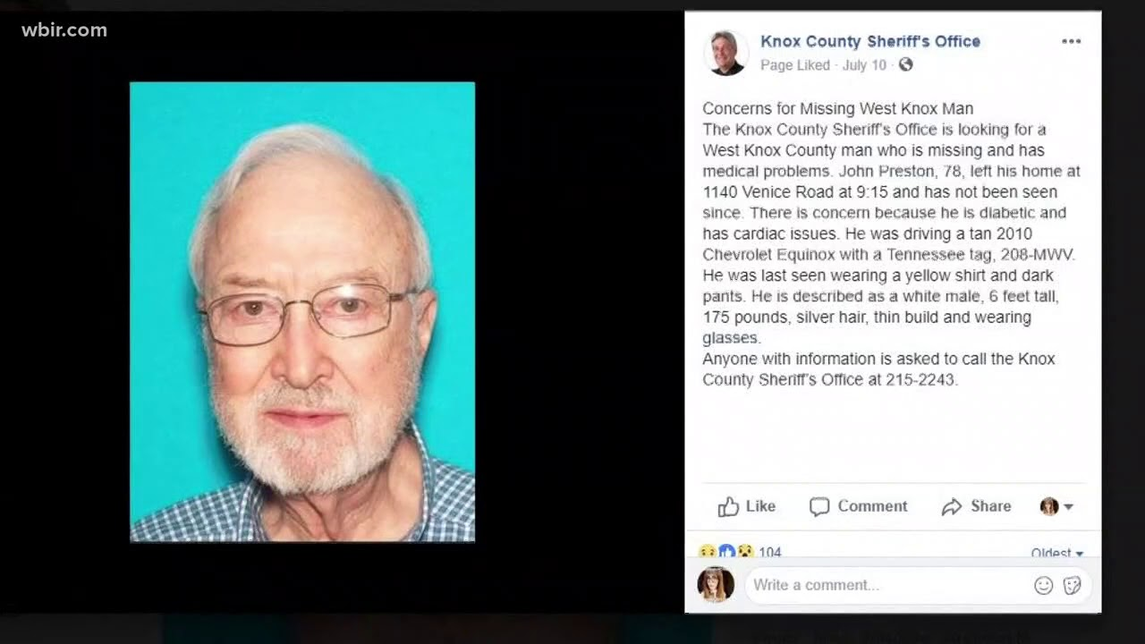 MISSING The Search Continues For West Knox Co Man