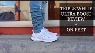 Adidas Ultra Boost White On Feet