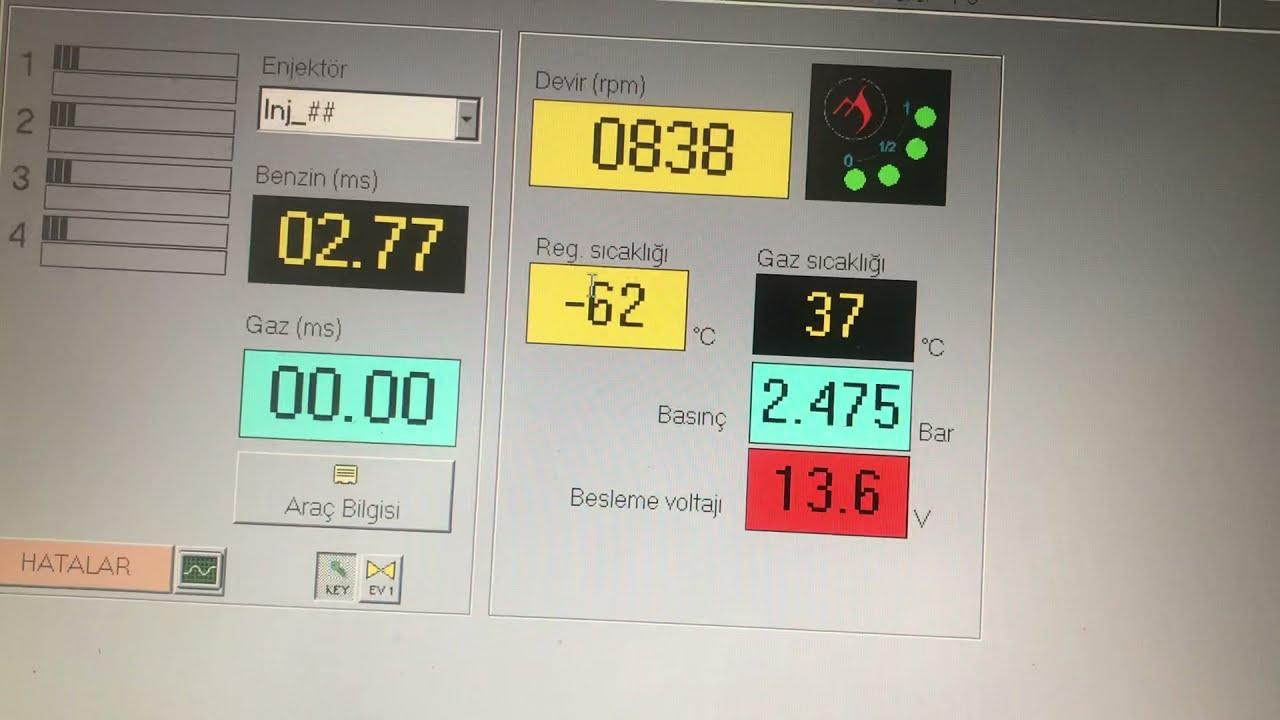 Lpgde titreme yüksek yakıt. regülatör arızası lpg beyni
