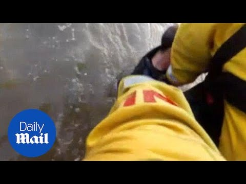 Man rescued by RNLI crew was five seconds away from drowning - Daily Mail