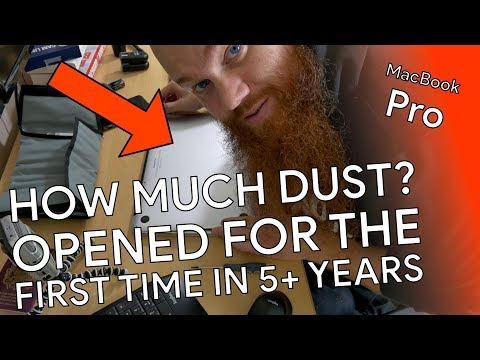 Clearing the dust out of a MacBook Pro after 5+ years!