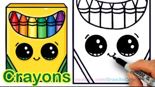 How to Draw a Crayon Box Cute and Easy step by step