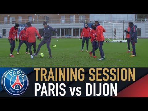 TRAINING SESSION - ENTRAINEMENTS - PARIS SAINT-GERMAIN vs DIJON