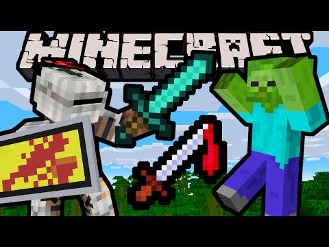 Minecraft 1.9 Snapshot: Click-Spam Counter! Attack Strength Meter, PVP Combat Update, Mob AI, Shield