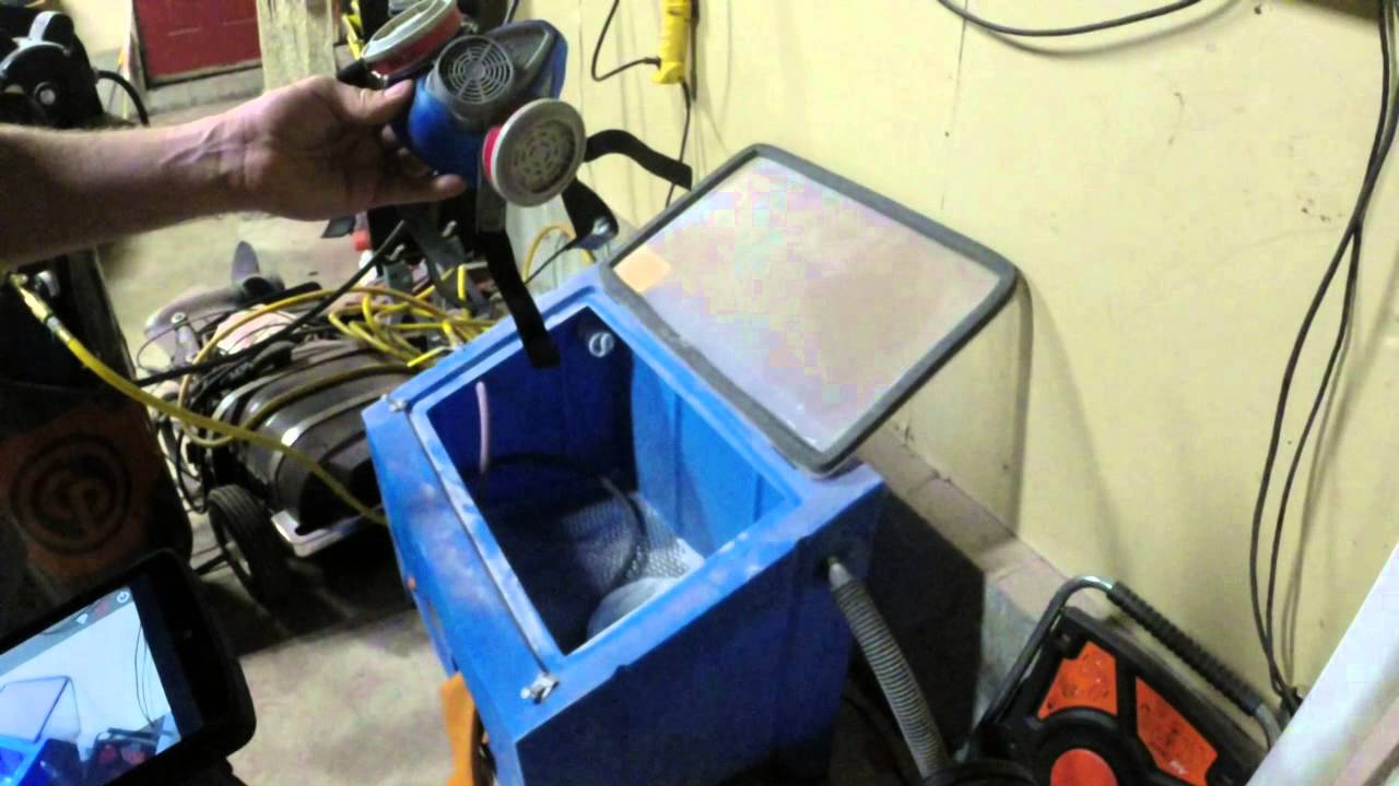 How to etch glass with a sand blasting cabinet. - YouTube