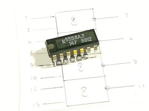 Электронные самоделки на микросхеме К155ЛА3.Как она работает,что такое 2И-НЕ
