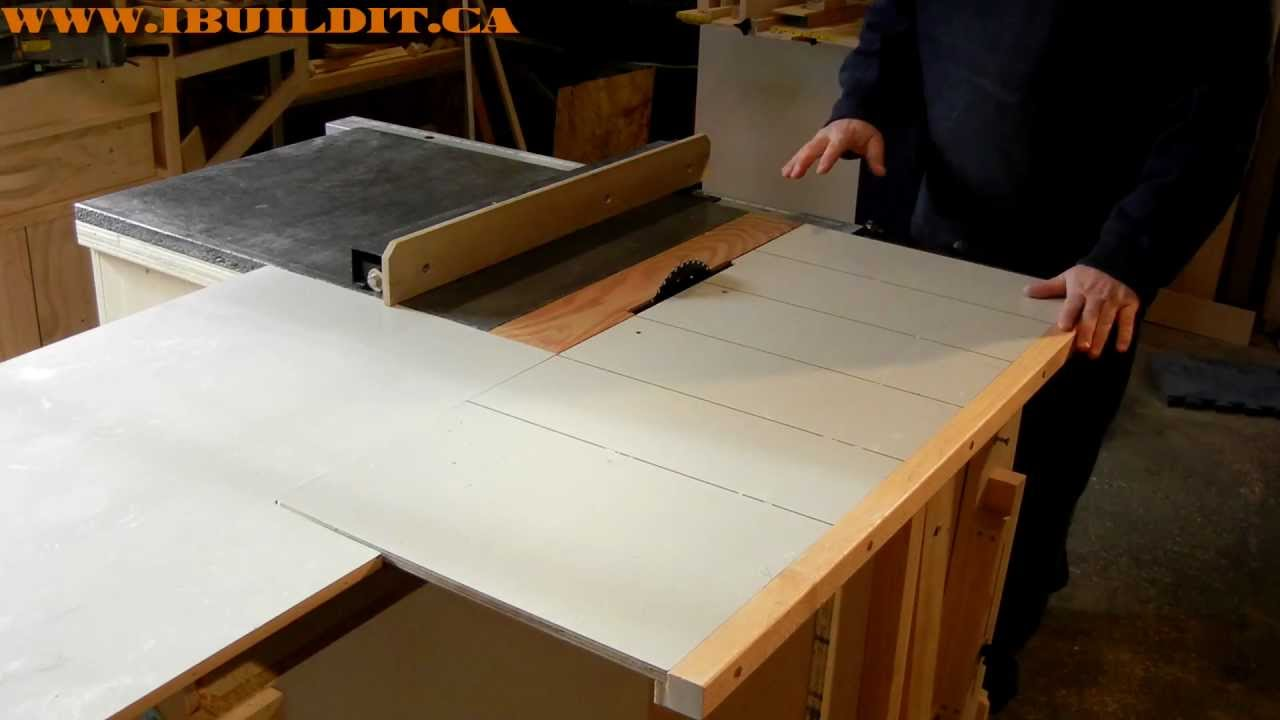 Homemade Table Saw Sliding Table Demo Youtube