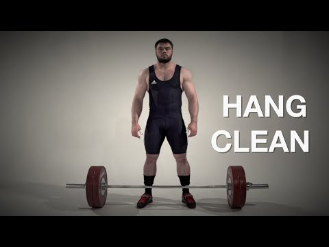 Hang CLEAN / weightlifting and crossfit