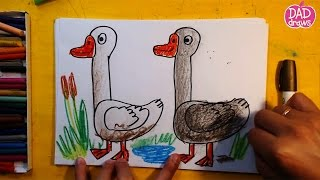 How to draw a goose / Art for Kids