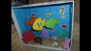 аквариум своими руками из бумаги и картона